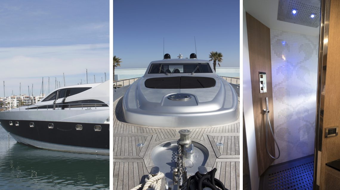 Italian luxurious Yacht with private SPA: This Alfamarine 78 is for SALE in Ibiza